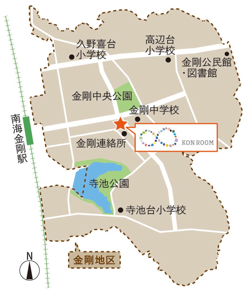 金剛地区_拠点周辺略図